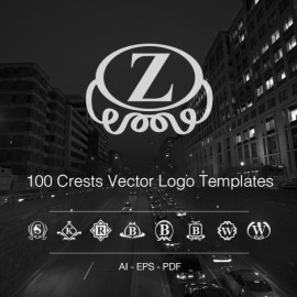 100 crests vector logos templates preview