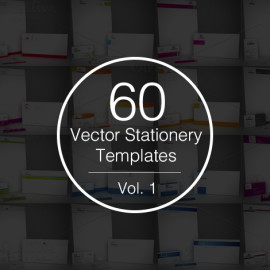 60 stationery templates preview