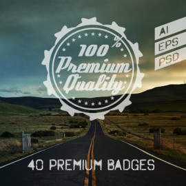 40 badges preview