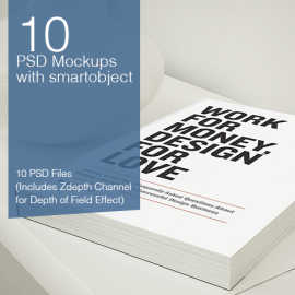 10 PSD mockups with smartobject