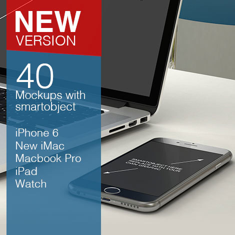 40 Mock-ups with smart object preview