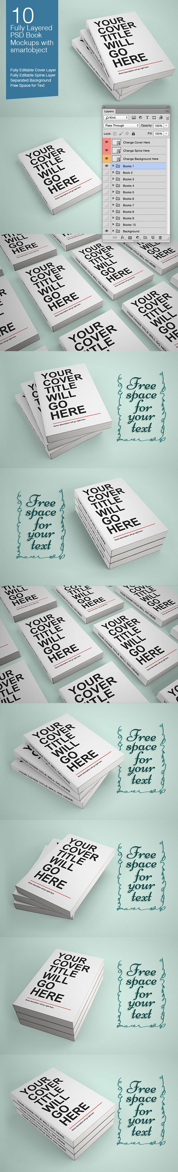 Editable PSD Book Mockups