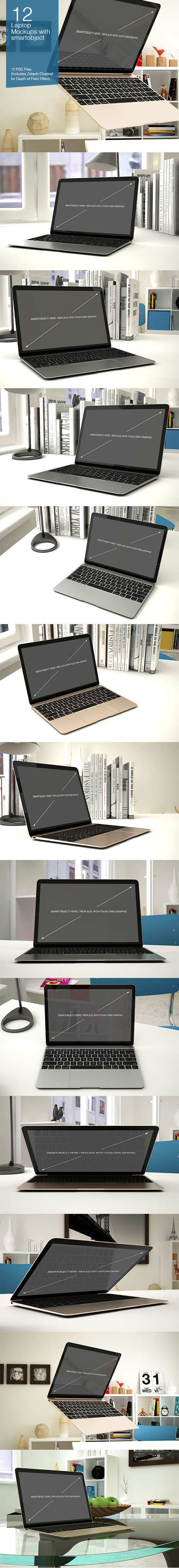 MacBook PSD Mock-up Templates