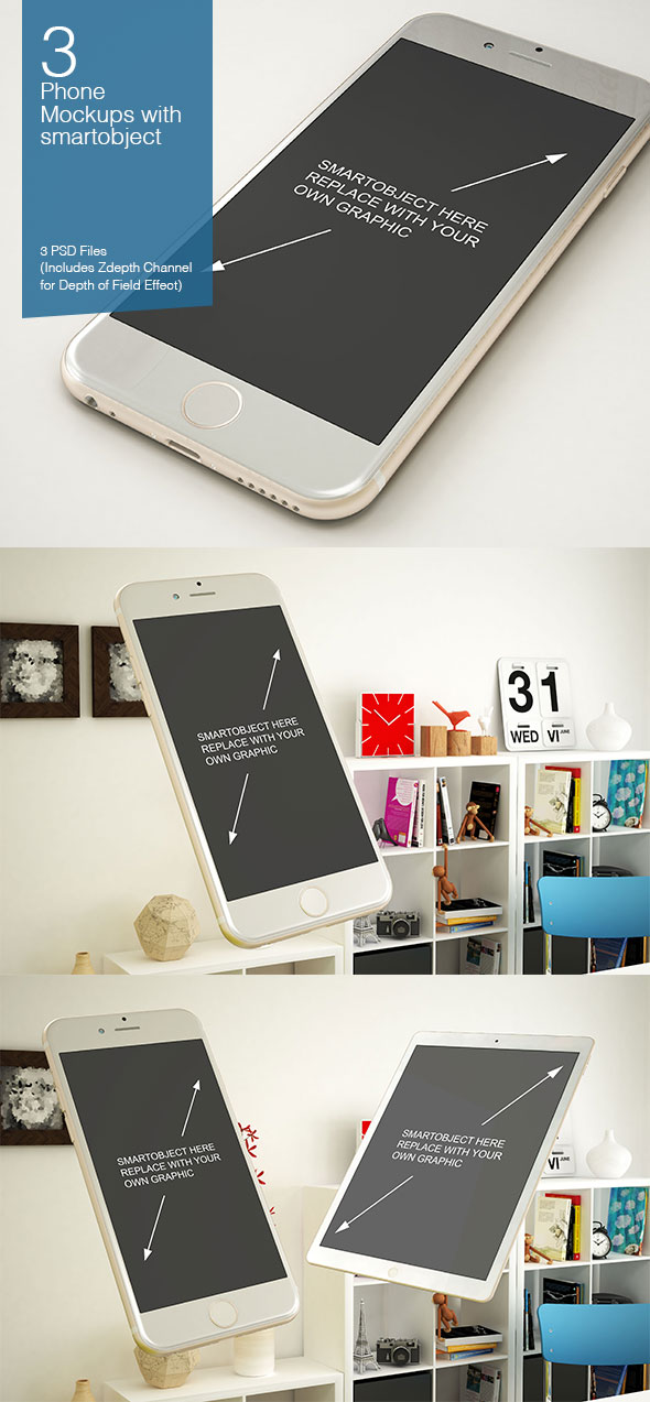 iPhone 6s PSD Mock-up Templates